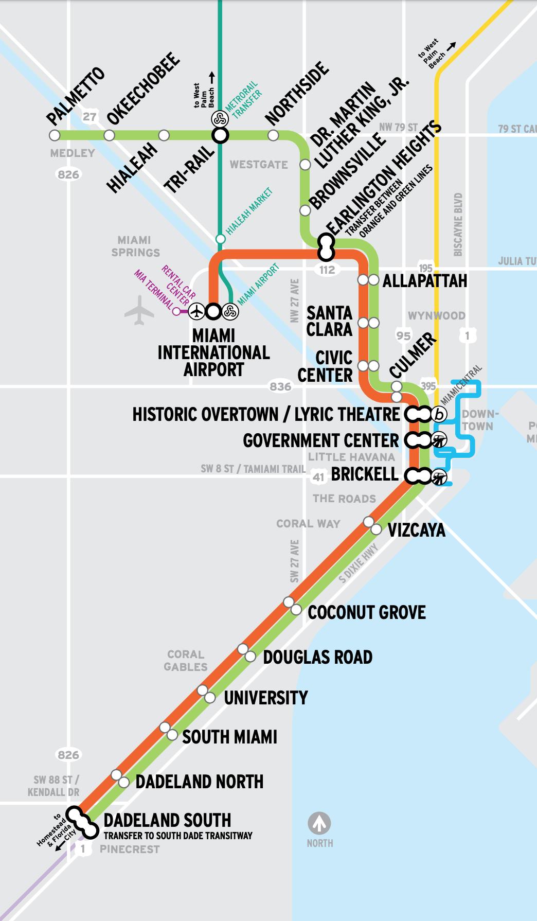 Общественный транспорт в Майами